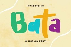 Web Font Bata - Display Font Product Image 1