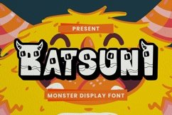 Web Font Batsuni Font Product Image 1
