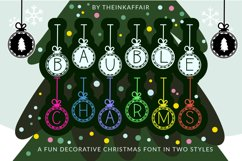 Bauble Charms, a Christmas ornament font in two styles Product Image 1