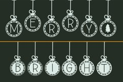 Bauble Charms, a Christmas ornament font in two styles Product Image 3