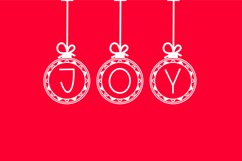 Bauble Charms, a Christmas ornament font in two styles Product Image 2