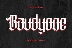 Baudyone - Tattoo Font Product Image 1