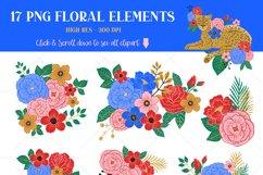Leopard Floral Clipart & Patterns Product Image 3