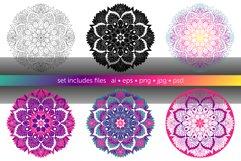 Set of bright vector mandalas Product Image 4