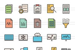 148 Admin Dashboard Filled Line Icons Product Image 5