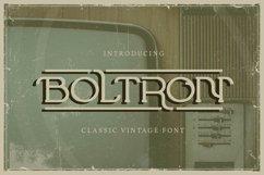 Boltron   Classic Vintage Font Product Image 1