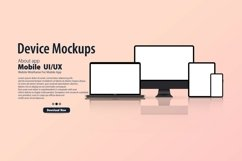Blank device mock up. Realistic smartphone, tablet, laptop Product Image 1