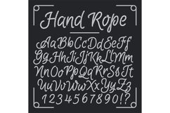 Nautical letters from hand rope. Vector thread alphabet Product Image 1