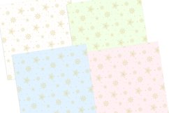Gold Snowflakes Digital Papers Seamless Patterns Product Image 2