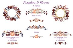 Pumpkins and Flowers Product Image 4
