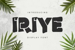 Web Font Iriye Font Product Image 1