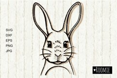 Rabbit, Bunny face svg, Happy Easter bunny Cut files Cricut Product Image 1