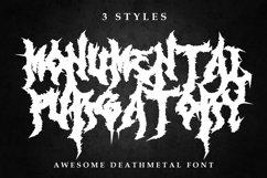 Monumental Purgatory - 3 Awesome Deathmetal Fonts Product Image 1