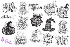 Halloween hand drawn Quotes SVG Cut files Product Image 4