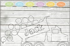 Easter Truck with eggs - Easter Truck svg - Dump truck svg Product Image 2