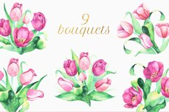 Tulips Watercolor Floral Bundle Product Image 5