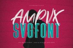 AMPVX SVG Brush Font Free Sans Product Image 1