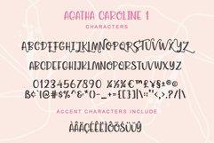 Agatha Caroline - Handwritten Font in 2 Styles Product Image 6