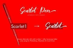 Scarlet Pen Script Product Image 5