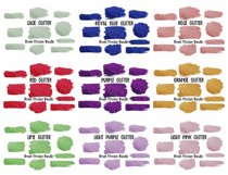 Brush Strokes Background Bundle Glitter & Watercolor PNG Product Image 4
