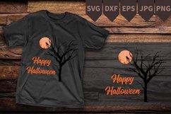 Nightmare Before Christmas SVG, Tree moon svg Digital file Product Image 1