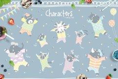 Cute Animals Pajama Party - Illustrations & Invitations Product Image 2