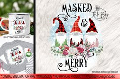 Pandemic Christmas Gnomes Sublimation Bundle Masked & Merry Product Image 3