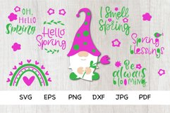Spring Bundle SVG. Spring Gnomes, Quotes SVG,PNG. Bundle SVG Product Image 1
