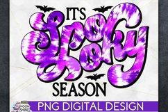 Spooky Season Tie Dye Halloween PNG Sublimation Design Product Image 1