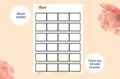 4 printable A5 trackers for habbits, books, movie, sport Product Image 5