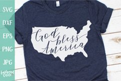 God Bless America - A 4th of July SVG Cut File for Crafters Product Image 1
