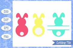 Bunny Monogram Easter SVG Files Product Image 1