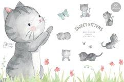 LITTLE KITTEN. Cat clipart Product Image 1