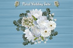 White Floral Wedding Invitation Suite Product Image 6
