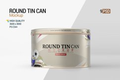 Round Tin Can Mockup Product Image 1