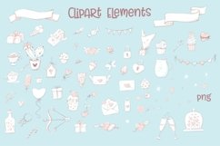 Valentines Day Clipart Cute Cat Product Image 2