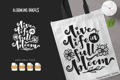 Live Life In Full Bloom | Lettering Quotes Product Image 1