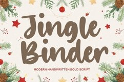 Jingle Binder Modern Handwritten Bold Font Product Image 1