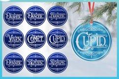 Reindeer Names Round Ceramic Ornament Christmas Bundle SVG Product Image 5