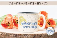 Karate Hair Don't Care 2- Martial Arts SVG Product Image 3
