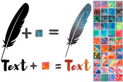 Watercolor Photoshop Layer Styles Effects. Text style Product Image 3