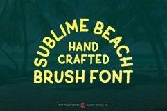 Sublime Beach Brush Font Product Image 2