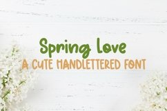 Web Font Spring Love - A Cute Hand-Lettered Font Product Image 1