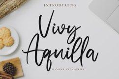 Vivy Aquilla - Handwritten Font Product Image 1