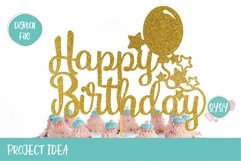 Cake Topper Bundle SVG | Happy Birthday SVG Bundle Product Image 5