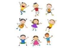 Set of Twenty-six Cartoon Little Kids Character Product Image 1