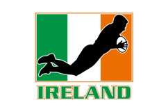 rugby playing diving try ireland flag Product Image 1