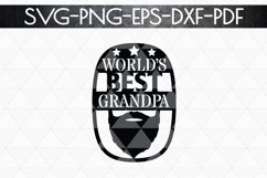 World's Best Grandpa Paper cut Template, Grandpa SVG, PDF Product Image 5