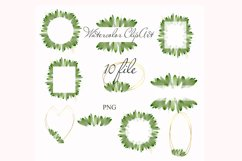 Watercolor Greenery Clipart Wreath Branches For wedding Product Image 2