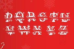 Christmas Monogram Alphabet - Christmas Split Letters Product Image 3